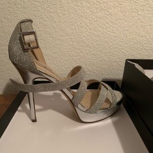 Nina Sevilla Glitter Platform Stiletto Heel